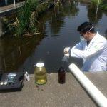 Toma de muestra agua residual